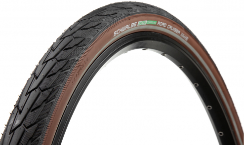 Pneu Schwalbe Road Cruiser - Green Compound - TwinSkin - K-Guard noir marron